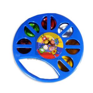 juego didáctico Pandereta Niños Felices Fantiplas Azul unisex Mediana