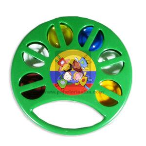 juego didáctico Pandereta Niños Felices Fantiplas verde unisex Mediana
