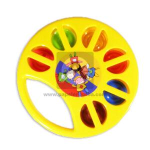 juego didáctico Pandereta Niños Felices Fantiplas amarillo unisex Mediana