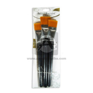 pincel Set Artist Brushs Grande Madera Negro 3 unidades