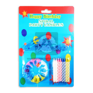 vela Set spiral Party Candles Happy Birthday Fival Mediano Surtido 24 unidades