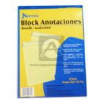 block   Anotaciones  Norma amarillo Carta 50 hojas Cuadriculado