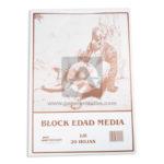 block  Edad Media  Nessan beige Octavo 20 Hojas