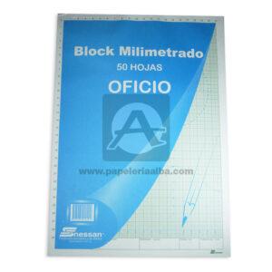 block Milimetrado Nessan Oficio 50 hojas unisex