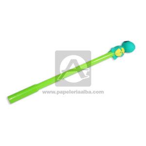 lapicero bolígrafo En gel con Muñeco de Goma, Dinosaurio Figura Madcolor verde Tinta Negra masculino 0.7mm Punta fina Punta Metálica