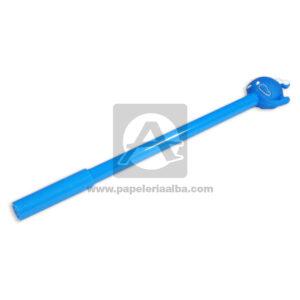 lapicero bolígrafo En gel con Muñeco de Goma, Ballena Figura Madcolor Azul Tinta Negra unisex 0.7mm Punta fina Punta Metálica