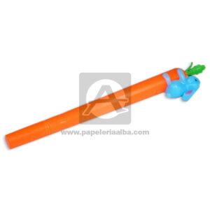 lapicero bolígrafo En gel con figura de Zanahoria con Conejo Madcolor verde Tinta Negra unisex 0.7mm Punta fina Punta Metálica