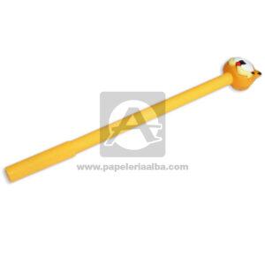 lapicero bolígrafo En gel con Figura de Goma, Garfield Madcolor Rosado Tinta Negra masculino 0.7mm Punta fina Punta Metálica