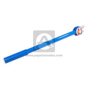 lapicero bolígrafo En gel con Muñeco de Goma, conejo Azul Tinta Negra unisex 0.7mm Punta fina Punta Metálica