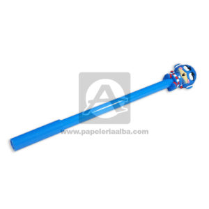 lapicero bolígrafo En gel con Muñeco de Goma, Capitán América Avengers Madcolor Azul Tinta Negra masculino 0.7mm Punta fina Punta Metálica