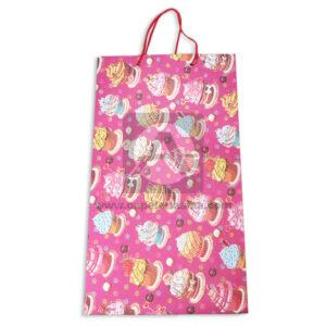bolsa de regalo Cartulina Estampada de Cupcakes con Cordón Sujetador