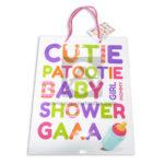 Bolsa de Regalo  Estampada Lestras para Baby Shower  con cordón Sujetador  Primavera Multicolor Grande L unisex