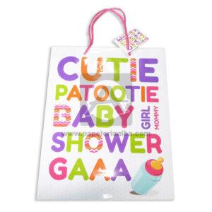 Bolsa de Regalo Estampada Lestras para Baby Shawer con cordón Sujetador Primavera Multicolor Grande L