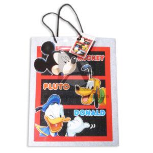Bolsa de Regalo Estampada personajes disney Mickey, Pluto y Donald de cordón Sujetador Primavera Multicolor Grande L