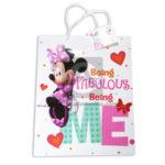 Bolsa de Regalo  Estampada personajes Disney Minnie Mouse, Being Fabulous Being Me con Sujetador  Primavera Multicolor Grande L femenino
