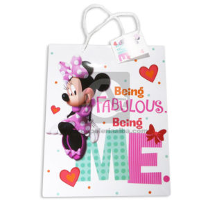 Bolsa de Regalo Estampada personajes Disney Minnie Mouse, Being Fabulous Being Me con Sujetador Primavera Multicolor Grande L femenino