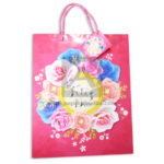 Bolsa de Regalo  Estampada de Flores, Feliz día  con  cordón Sujetador  Primavera Multicolor Grande L femenino