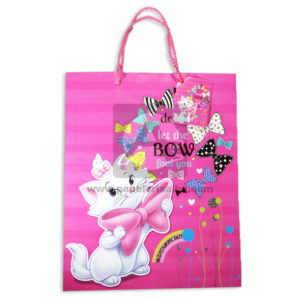 Bolsa de Regalo Estampada Gatita, Let the bow foot you con cordón Sujetador Primavera Multicolor Grande L femenino