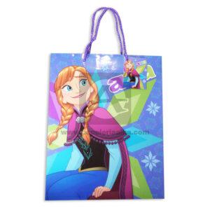 Bolsa de Regalo Estampada Princesa Anna con cordón Sujetador Primavera Multicolor Grande L femenino