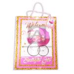 Bolsa de Regalo  Estampada para baby Shower,  Welcome Beatiful Girl   de cordón Sujetador  Primavera Multicolor Grande L femenino