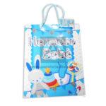 Bolsa de Regalo  Estampada Para baby Shower, Hermoso Bebe  de cordón Sujetador  Primavera Azul Cielo Blanca Grande L unisex