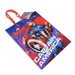 Bolsa de Regalo  Estampada personajes Marvel Avengers Capitán América Cordón con Cordón  Sujetador  Primavera Azul Rojo M Mediana  Niño