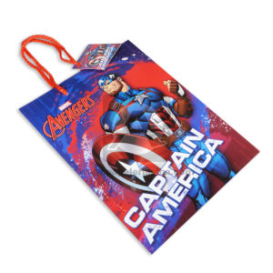 Bolsa de Regalo Estampada personajes Marvel Avengers Capitán América Cordón con Cordón Sujetador Primavera Rojo azul Mediana Niño