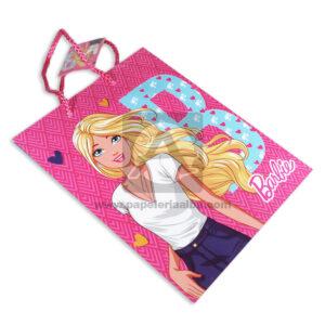 Bolsa de Regalo Estampada Barbie con Cordón Sujetador Primavera Rosado Mediana Niña