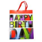 Bolsa de Regalo  Premium Estampada Happy Birthday  con  Cordón  Sujetador  Primavera Multicolor Grande L unisex