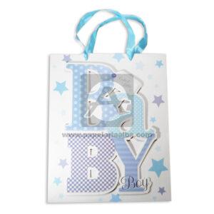 Bolsa de Regalo Premium Estampada Lestras en alto realce Baby, con Cordón Sujetador Primavera Multicolor Grande L