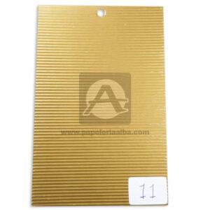 papel Cartón Microcorrugado lamina Nirvana dorado medio pliego 70x50cm