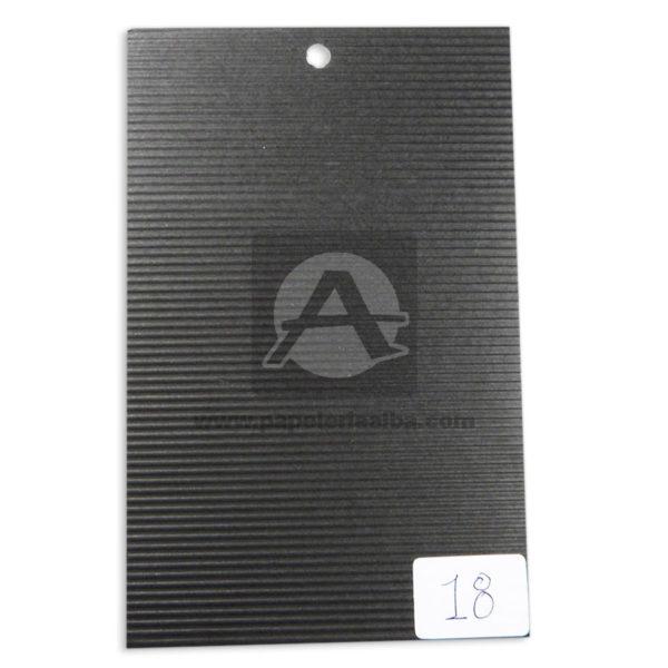 papel Cartón Microcorrugado lamina Nirvana negro medio pliego 70x50cm