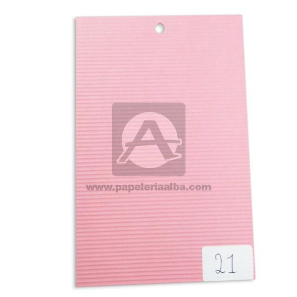 papel Cartón Microcorrugado lamina Nirvana pastel medio pliego 70x50cm
