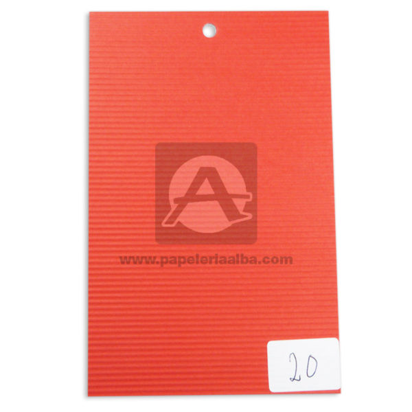 papel Cartón Microcorrugado lamina Nirvana Rojo medio pliego 70x50cm