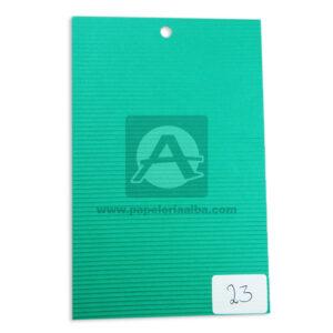 papel Cartón Microcorrugado lamina Nirvana Verde jade medio pliego 70x50cm