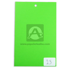 papel Cartón Microcorrugado lamina Nirvana verde limon medio pliego 70x50cm