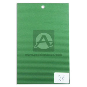 papel Cartón Microcorrugado lamina Nirvana Verde medio pliego 70x50cm