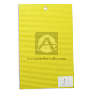 CARTON MICROCORRUGADO 70X50 COLOR amarillo -000254
