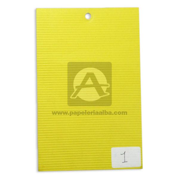 CARTON MICROCORRUGADO 70X50 COLOR amarillo -000254