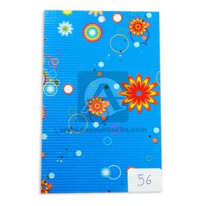 papel Cartón Microcorrugado Estampado Flores lamina Nirvana Pastel medio pliego 70x50cm