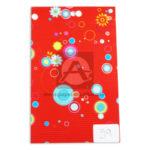 papel Cartón  Microcorrugado Estampado flores y círculos  lamina   Nirvana Rojo medio pliego 70x50cm