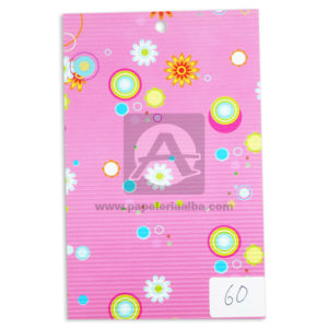 papel Cartón Microcorrugado Estampado figuras con flores lamina Nirvana Pastel medio pliego 70x50cm