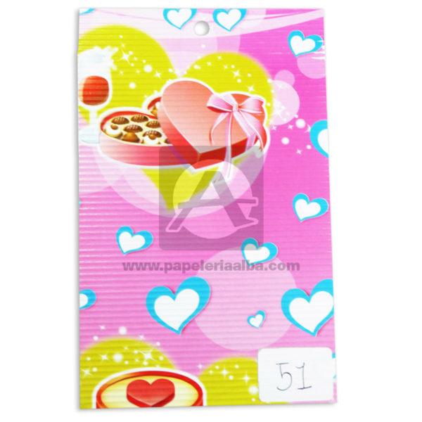 papel Cartón Microcorrugado Estampado corazones lamina Nirvana Pastel medio pliego 70x50cm