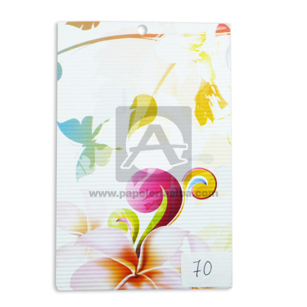 papel Cartón Microcorrugado Estampado floral lamina Nirvana Pastel medio pliego 70x50cm