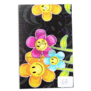 papel Cartón Microcorrugado Estampado Flores Animadas lamina Nirvana Pastel medio pliego 70x50cm