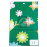 papel Cartón  Microcorrugado Estampado Fauna y Flora lamina   Nirvana verde medio pliego 70x50cm