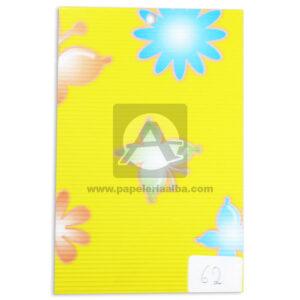 papel Cartón Microcorrugado Estampado Flores y Mariposas lamina Nirvana Pastel medio pliego 70x50cm
