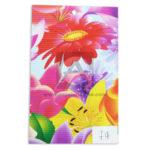 papel Cartón  Microcorrugado Estampado Flores grandes lamina   Nirvana Multicolor medio pliego 70x50cm