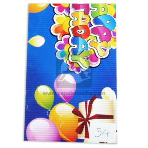 CARTON MICROCORRUGADO 70X50 ESTAMPADO GLOBOS HAPPY BIRTHDAY-000255
