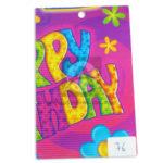 papel Cartón  Microcorrugado Estampado decorado Happy Birthday  lamina   Nirvana Multicolor medio pliego 70x50cm femenino